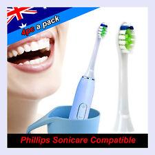 4pc Philips Sonicare Diamond Clean Toothbrush Brush Heads Compatible HX6064