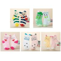 2 Pair Baby Toddler Girl Boy Cartoon Anti-Slip Cotton Socks Size 1-3 Years IceLu