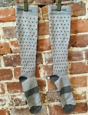 Copper Fit Grey Dots Knee-High Compression Socks Unisex L/XL NEW