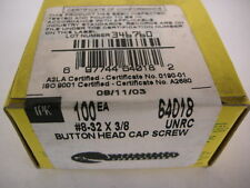 NEW HOLO KROME #8-32 X3/8 BHCS BUTTON HEAD SOCKET CAP SCREWS QUALITY MADE IN USA