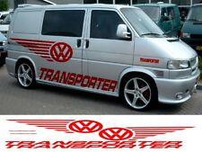 Vw T4 T5 Caddy Transporter Custom Car van gráficos Stickers Calcomanías X 6 Camper