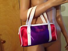 ESCADA OCEAN LOUNGE SMALL SATIN CANVAS COSMETIC TRAVEL POUCH HAND BAG PURSE NEW