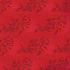 QUILT FABRIC: 100% COTTON, TONAL VINEYARD, BRIGHT RED, TV-05, By The Yard
