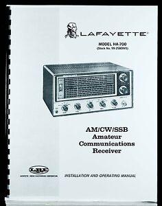 Lafayette HA700 HA-700 Communications Receiver Operating Manual