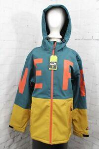 Neff Daily 2.0 Softshell Jacket, Men's Large, Green/Gold New 2020