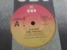 "FEATHER GIRL TROUBLE PROMO SAMPLE 45 7"" SWEET MELINDA AC/DC BLACK 1977 AUSTRALIA"