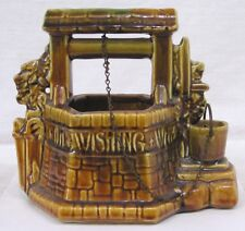 Vintage McCoy Pottery Old Wishing Well Planter with Chain