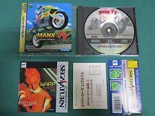 Sega Saturn Manx TT Super Bike. spine & postcard & leaflet. *JAPAN GAME* 17456