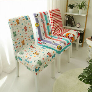 New Floral Print Elastic Slipcover Spandex Chair Cover Dining Room Wedding Decor