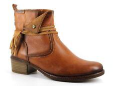 Pikolinos Zaragoza Womens UK 7 EU 40 Brown Leather Zip Up Tassel Ankle Boots