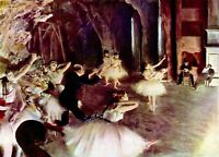 Stage trial by Edgar Degas Giclee Fine Art Print Reproduction on Canvas