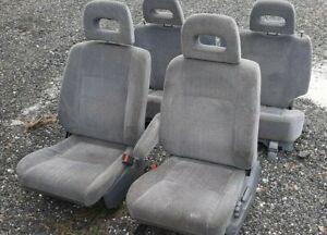 97-01 Honda CRV Complete Gray Cloth Seats Driver Passenger Front & Rear Get FAST