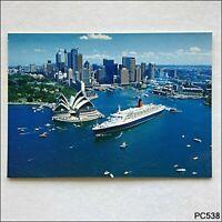 The Majestic Q.E.2 on Sydney Harbour Bartel Postcard (P538)