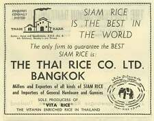 1953 The Thai Rice Company Bangkok Best In The World Ad
