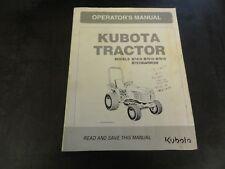 Kubota B7410 B7510 B7610 B7510NARROW Tractor Operator's Manual