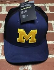 Nike Michigan Logo Aerobill Fitted Hat Breathable Classic99 Dri-Fit Size L/XL