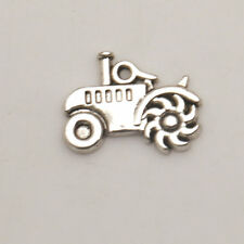 PER DIY Jewelry 10PC Tibetan Silver tractor Jewelry Crafts Charm Pendants TA2721