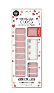 Dashing Diva Gloss Ultra Shine Gel Nail Strips 34 Strips - Valentine's Day