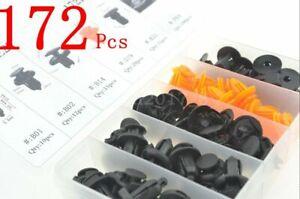 172Pcs For Honda Car Door Push Pin Rivet Trim Clips Panel Moulding Assortment