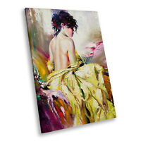 Colourful Vintage Retro Woman Portrait Canvas Wall Art Large Picture Prints