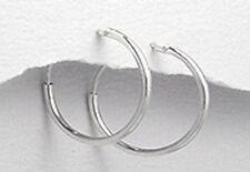"0.63"" Little DAINTY Classic Solid Sterling Silver Endless Hoop Earrings 0.54g"