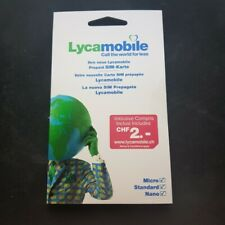 Lycamobile sim card from Switzerland not activated