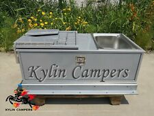 Aluminium Caravan Slide Out Kitchen 2 Drawers Sink Bench Camper Trailer Kitchen
