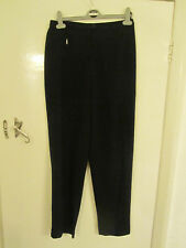 M&S Smart Black Trousers in Size 10 M - L30 - mislabelled - one front zip pocket