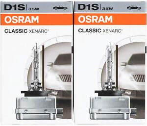 2x Osram Classic D1S Xenarc Xenon 66140CLC 35W Bulbs headlight pair lamps 4150K