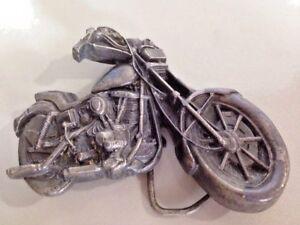"""79 Harley Davidson Twin V Motorcycle chopper Belt Buckle Bergamot Brass  I-3"
