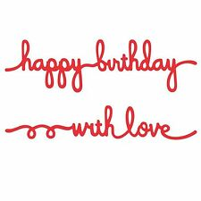 SPELLBINDERS GEFÜHLE 3 HAPPY BIRTHDAY WITH LOVE SCHNEIDE SCHABLONE D-LITES