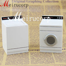 Dollhouse Fine 1:12 Scale Miniature High Quality White Washing Machine And Dryer