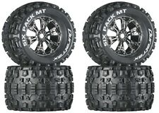 Duratrax Mounted 3.8 Six Pack MT Tires / Wheels (4) E-Maxx Revo 3.3 Savage