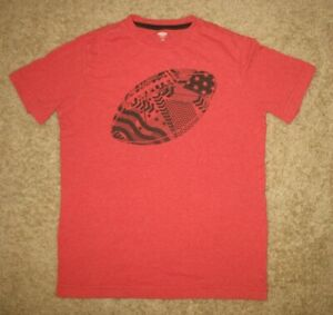 Boys' L 10/12 Old Navy Short Sleeve T-Shirt Red Football
