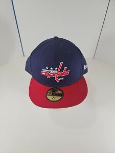 New Era 7 5/8 Washington Capitals Hat NWT Fitted Hat Red, White, Blue