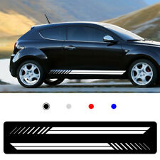 For usually general Car Body Sticker Vinyl Side Skirt Sticker Decals white 2pcs