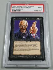 Graded Priest of Yawgmoth PSA 9 MINT Antiquities 1994 MTG Nate's Magic Cards!