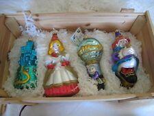 Polonaise Vintage Rare Box Set 4 Wizard Of Oz Dorothy Christmas Ornament New