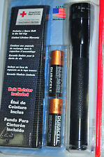 Maglite  M2A01H Mini MagLite Flashlight Kit with Holder Black  Made in USA