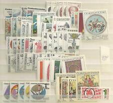 1970 MNH Czechoslovakia year collecttion according to Michel system