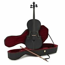 Student Full Size Cello With Case Gear4music Bow Black