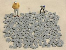 Granitplatten hellgrau Maßstab 1/22,5 1/32 1/35 Spur1 Diorama Gartenbahn LGB