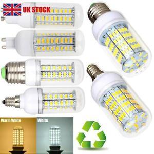 GU10 E14 G9 B22 E27 LED Lights Bright Energy Saving Corn Bulb Cool Warm White UK