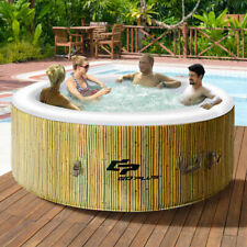 4 Person Inflatable Hot Tub Outdoor Jets Portable Heated Bubble Massage Spa