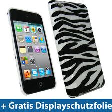 Schwarz Weiß Case für Apple iPod Touch 4G Gen 8/32/64gb Tasche Hülle Etui Hard