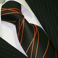 BINDER de LUXE KRAWATTE tie slips corbata cravatte Dassen Krawatten 415 Orange