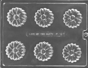 Daisy Flower Oreo Type Cookie Chocolate Mould 6 Shapes On 1 Mould Mother's Day