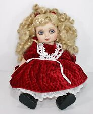 "Marie Osmond Adora Belle Holiday Cheer Christmas 15"" Baby Doll Red Dress Decore"