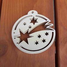 In legno di pino 12mm spessore Natale personalizzato qualsiasi nome Laser Cut Bauble 8x9cm