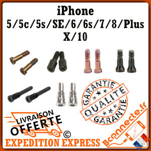 VIS TORX PENTALOBE IPHONE 5/ 5C/ 5S/ SE/ 6/ 6S/ 7/ 8/ X/ PLUS Noir Blanc or Rose